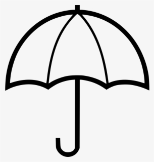 Free Umbrella Black And White Clip Art with No Background.