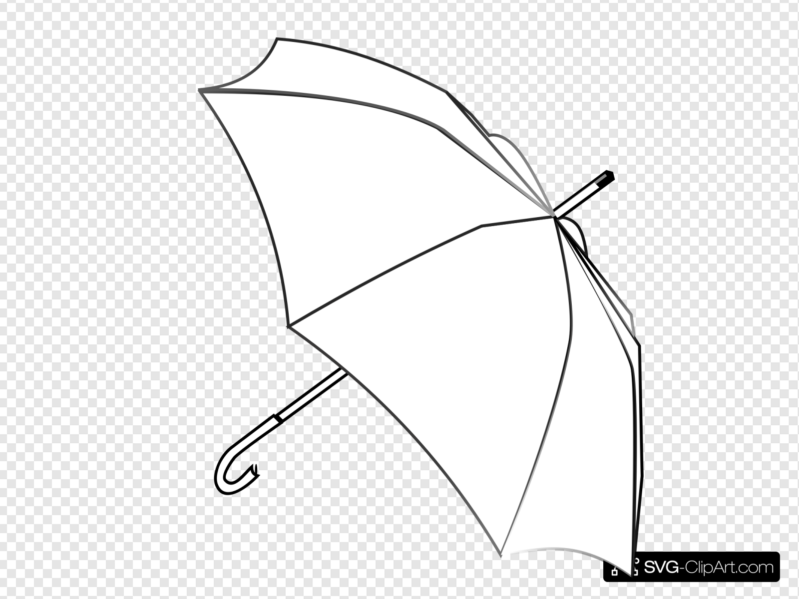 Umbrella Outline Clip art, Icon and SVG.