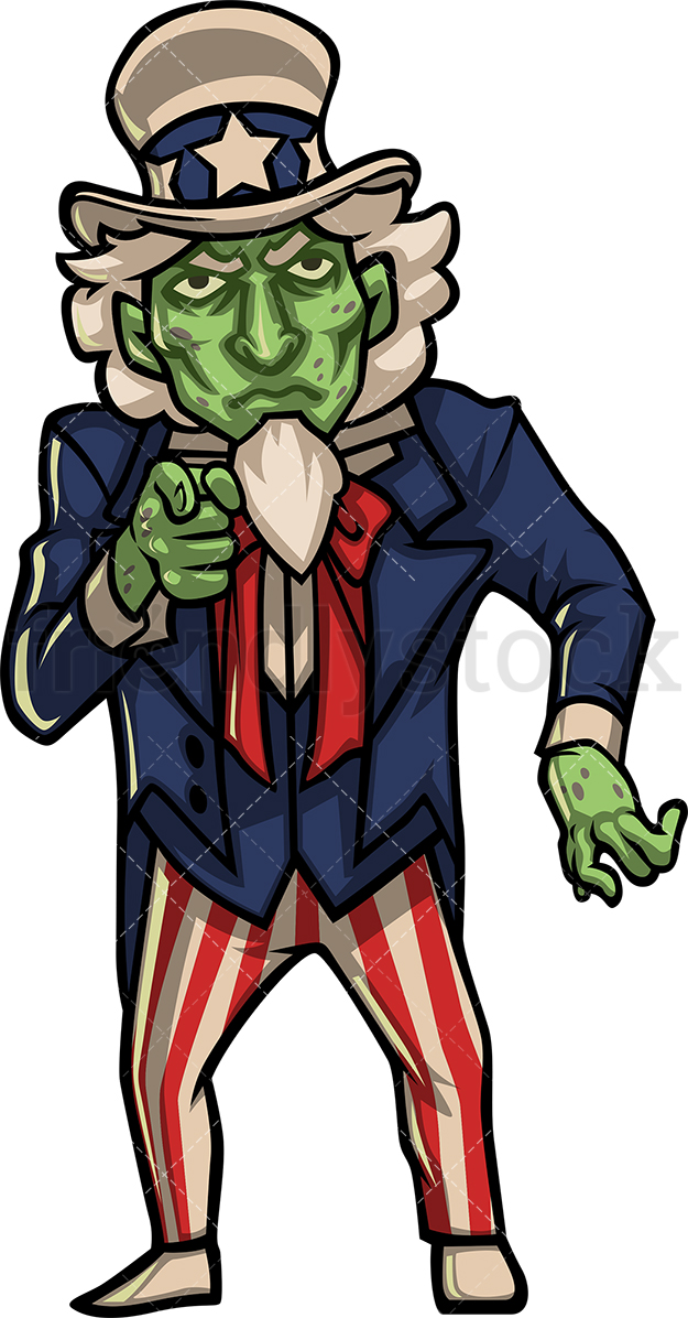 Zombie Uncle Sam.