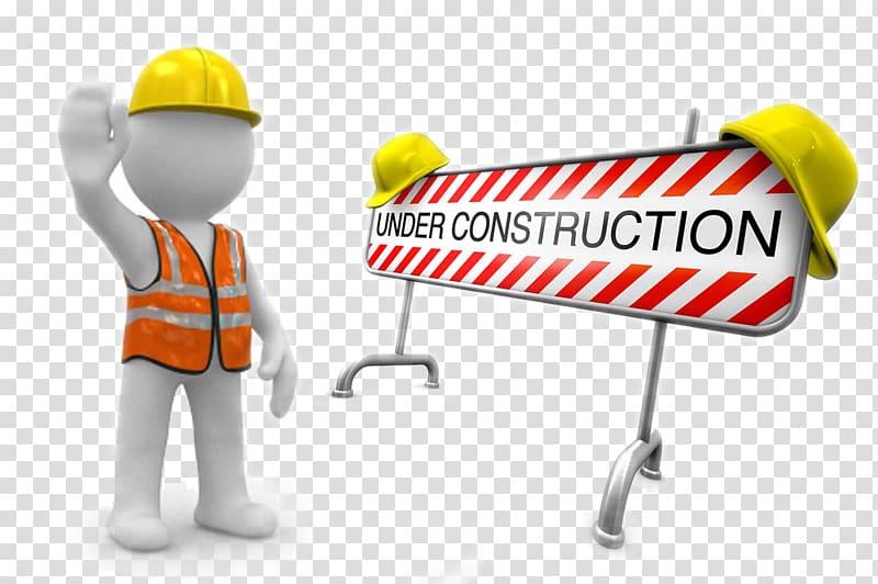 Under construction transparent background PNG clipart.
