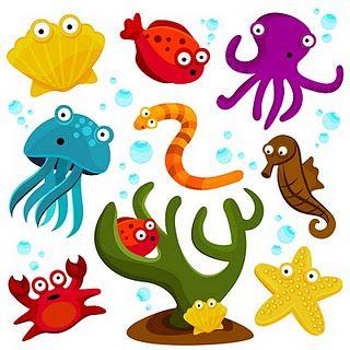 free 'under the sea' clip art printables.