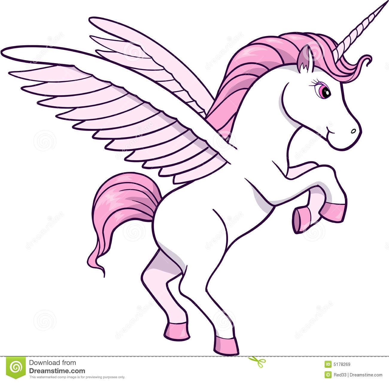 Unicorn Vector Clipart.