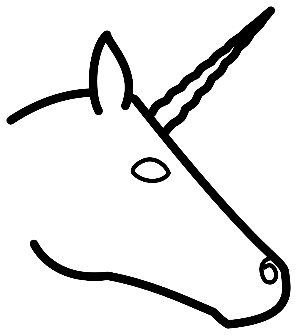 Unicorn Head Cartoon.