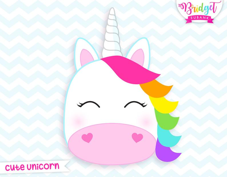Unicorn clipart, unicorn head clipart, unicorn birthday, unicorn, unicorn  party, cute unicorn, Commercial Use, INSTANT DOWNLOAD.