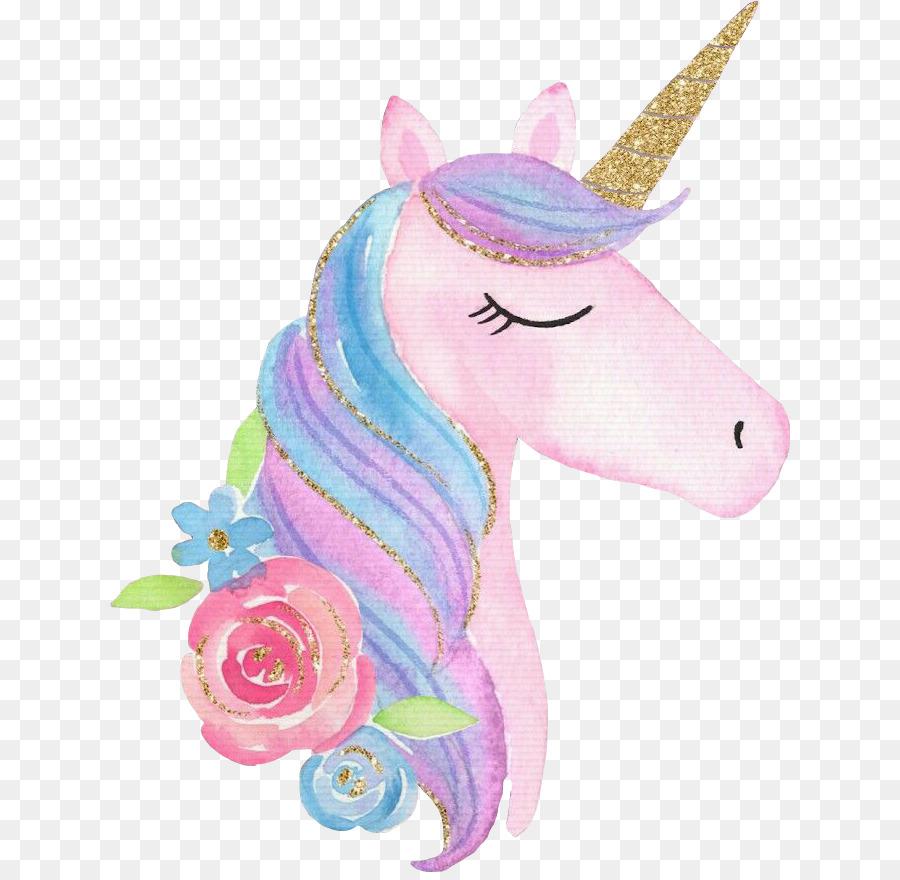 Unicorn Background clipart.