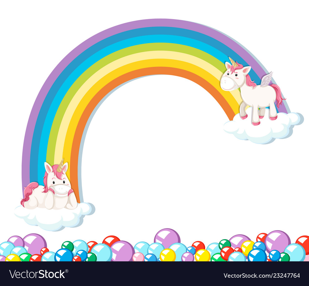 Cute unicorn on white background vector image.
