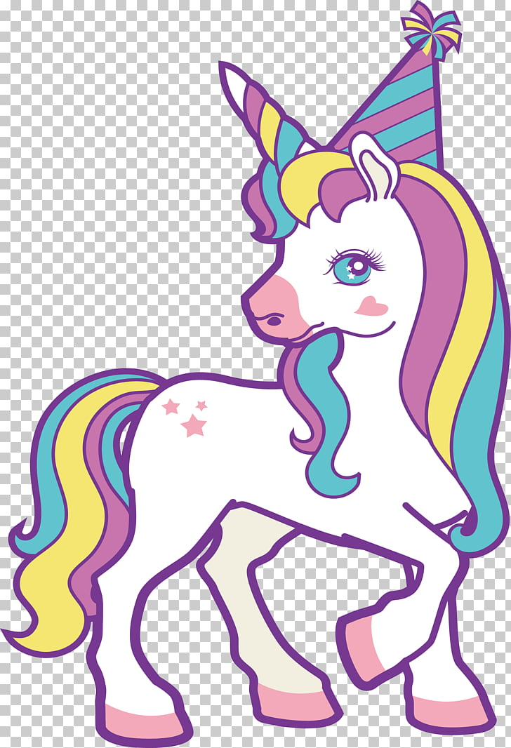 Unicorn , A unicorn turned around, illustration of white and.