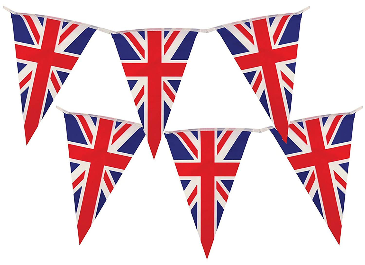 Lady T 90ft Bunting British Union Jack Flag 100 Flags Banner.