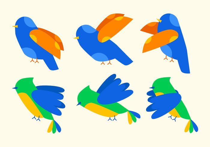 Unique Bird Clipart Set Vectors.