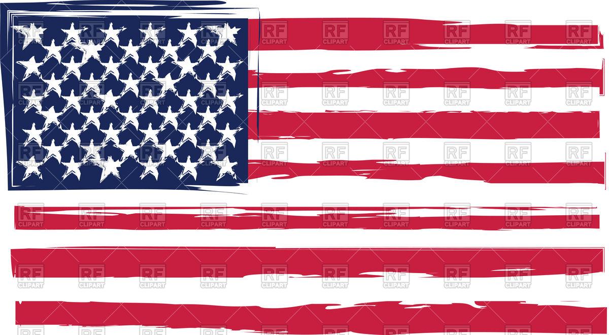 Grunge United States flag Stock Vector Image.