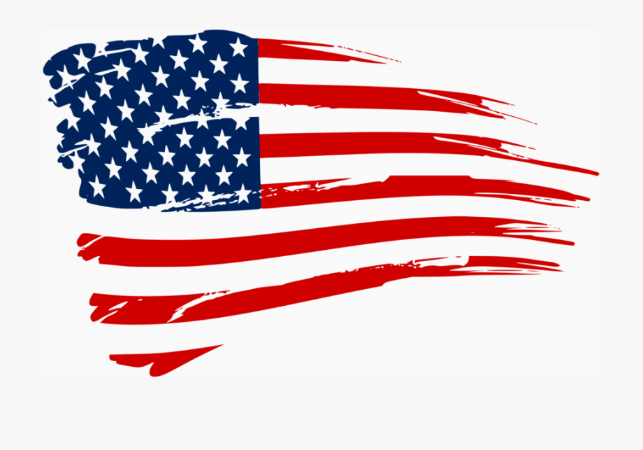 Distressed American Flag Decal Clipart United States.