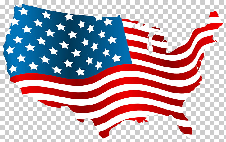 Flag of the United States , America PNG clipart.