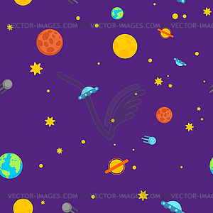 Space pattern seamless. Universe background. textire.