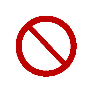 Clipart Universal No Sign.