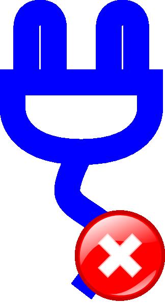Unplug Clip Art at Clker.com.