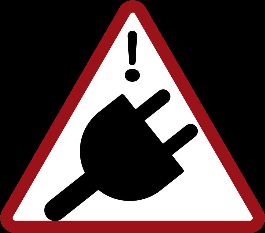 Alert Unplug Wellesley Warning Sign Clip Art.