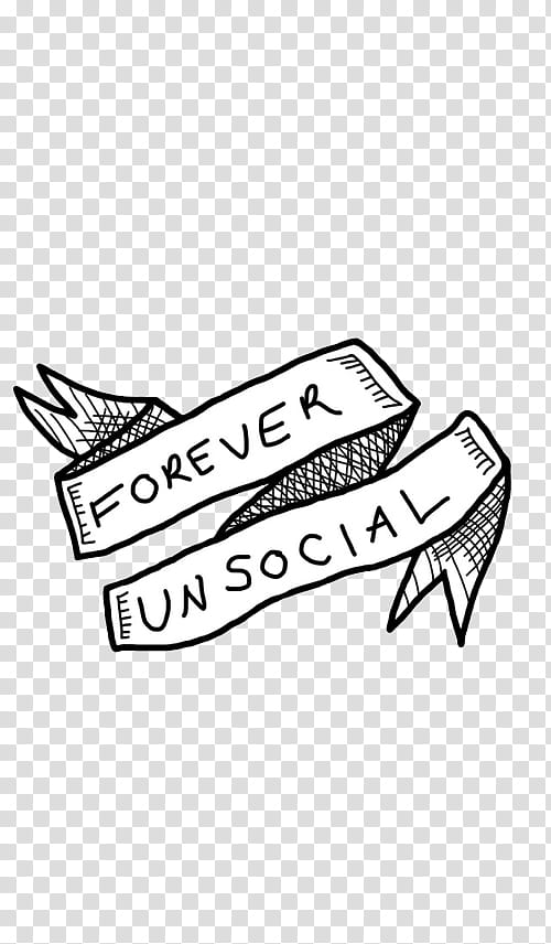 WATCHERS, forever unsocial text transparent background PNG.