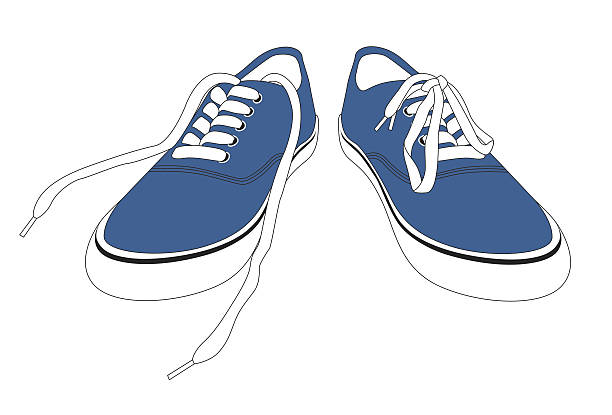 Untied Shoes Clipart.