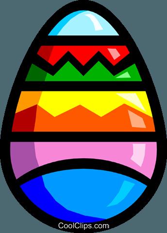 Simbolo di un uovo di Pasqua immagini grafiche vettoriali.