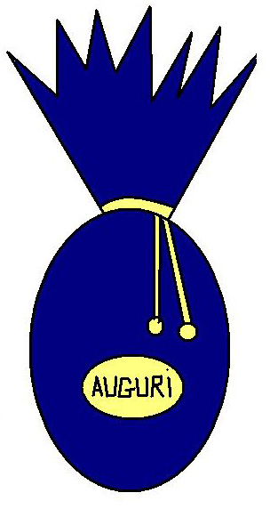 Clipart Uovo di Pasqua Blu.