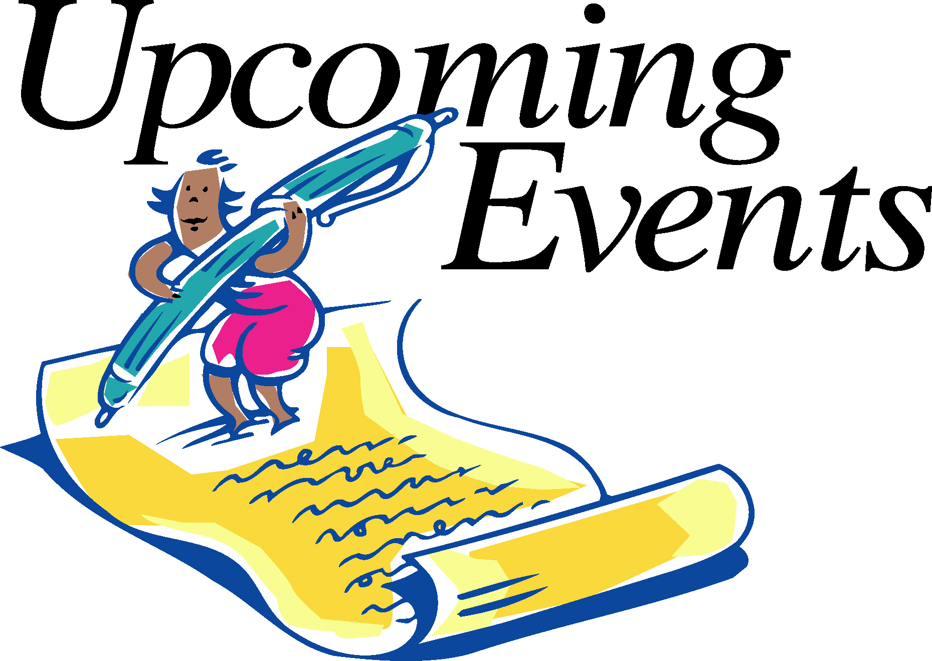 Churches Upcoming Events Clipart.