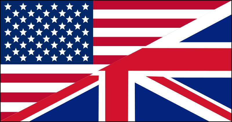 Free Clipart: US/UK flag.