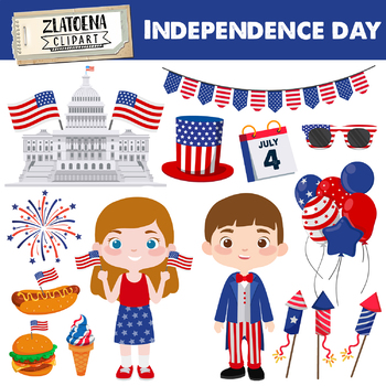 Independence day clipart 4th of July Clipart Independence graphics American  USA.