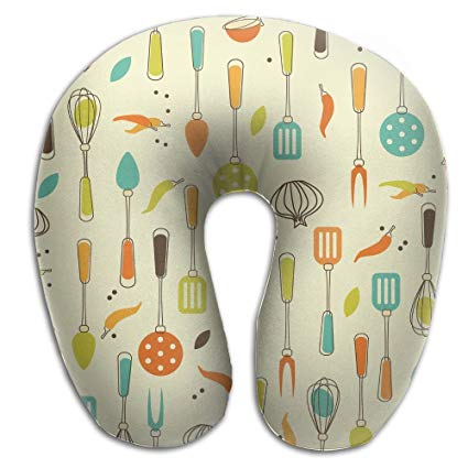 Amazon.com: Memory Foam Neck Pillow Kitchen Clipart Comfy.