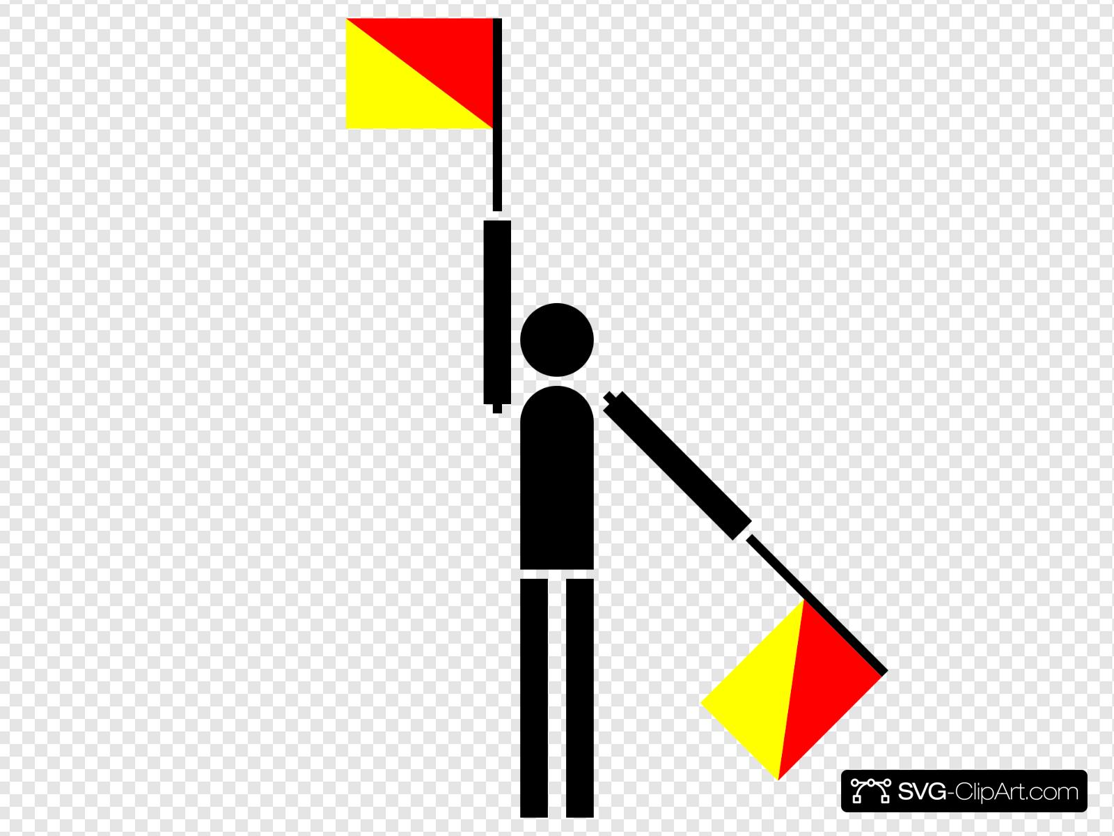 Naval Semaphore Flag V Clip art, Icon and SVG.