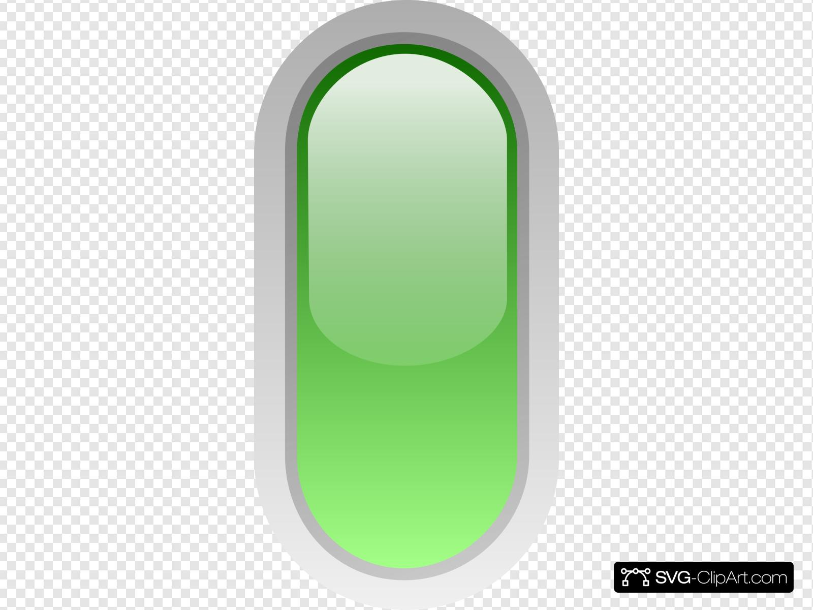 Led Rounded V Green Clip art, Icon and SVG.