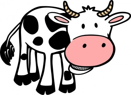 Vaca clipart 1 » Clipart Station.