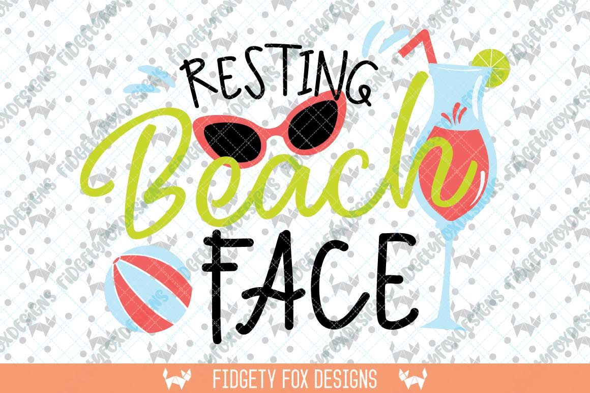 Resting Beach Face Svg Beach Clipart, Sunglasses svg.