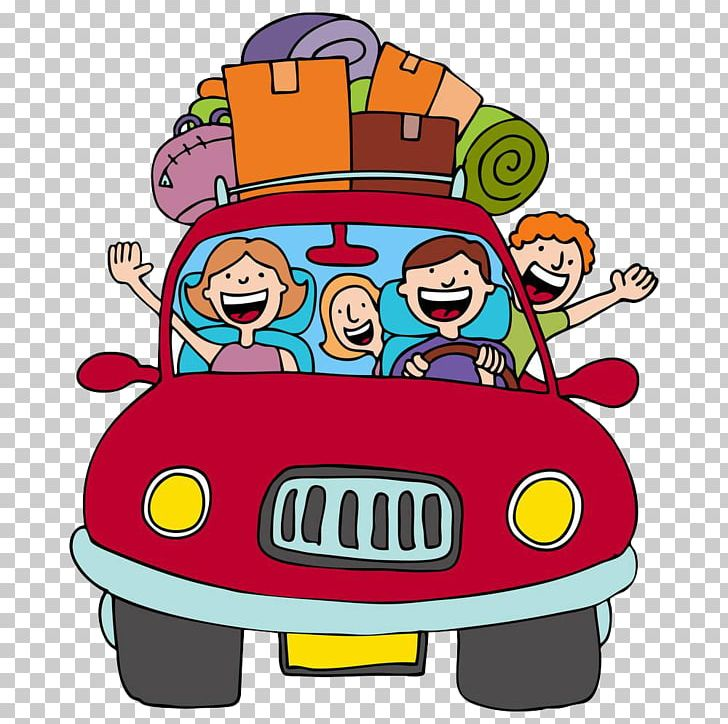 Vacation Road Trip Cartoon PNG, Clipart, Art, Car, Download.