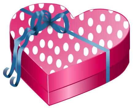 Gift Box Heart clipart.
