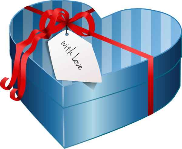 Valentine Heart Gift Box Clip Art at Clker.com.
