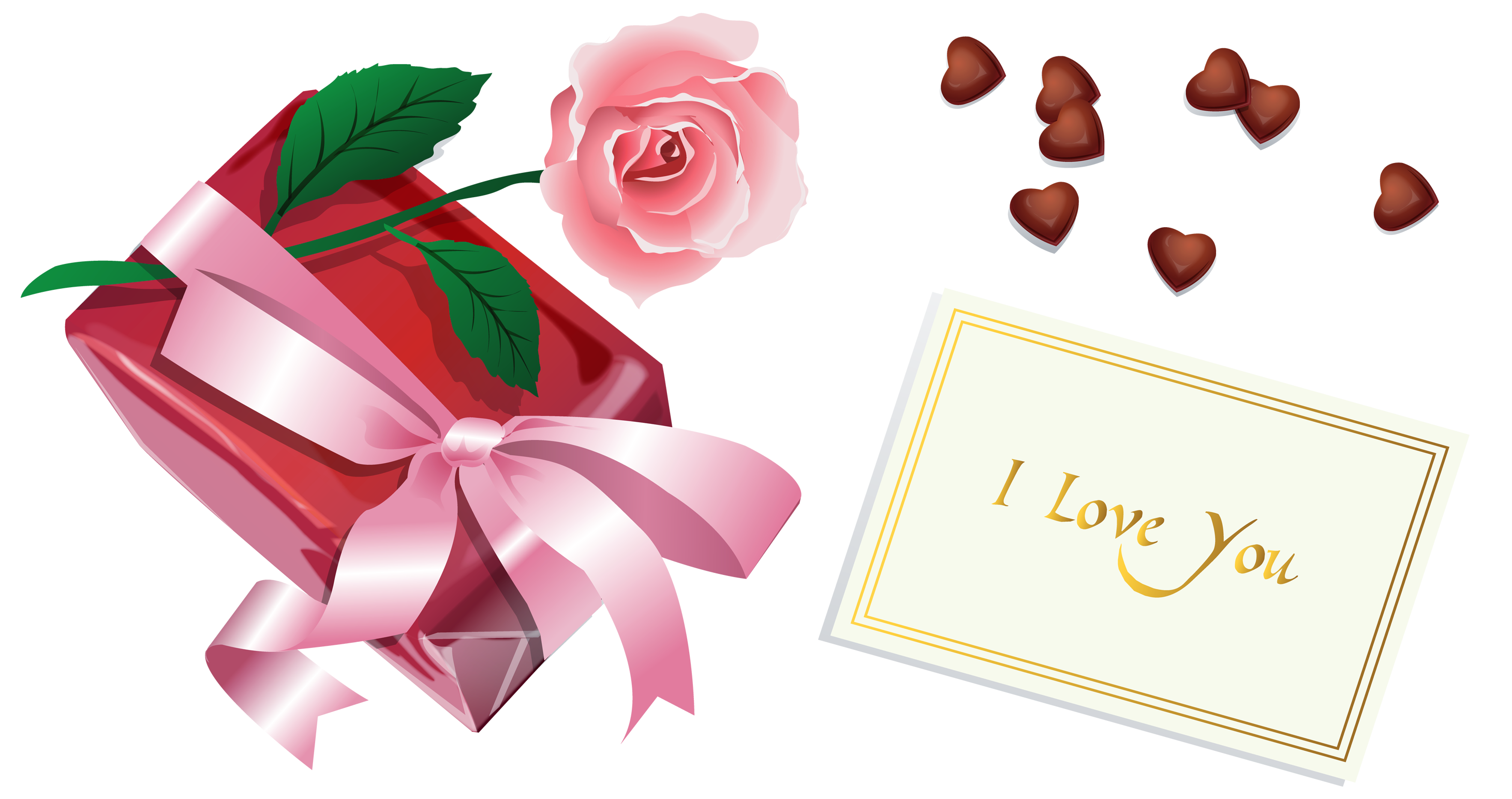 Valentine Gift PNG Clipart.