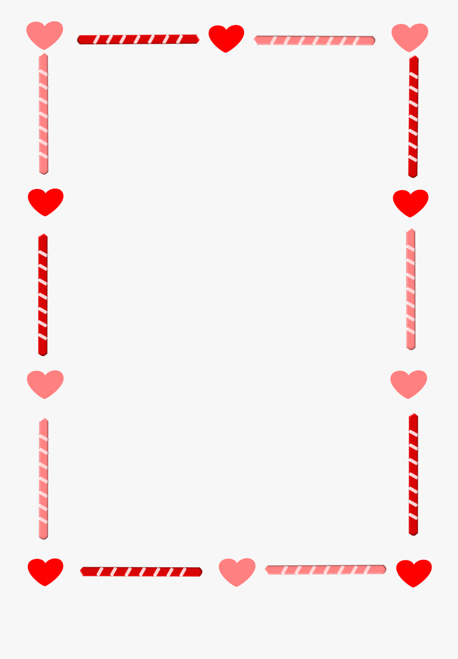 Heart Border And Candy.