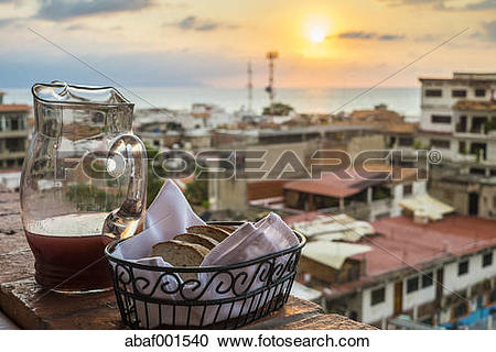 Stock Photography of Mexico, Jalisco, View of Puerto Vallarta.