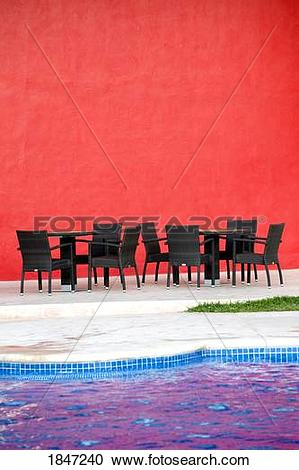 Stock Photography of Puerto Vallarta, Mexico; Chairs and tables by.