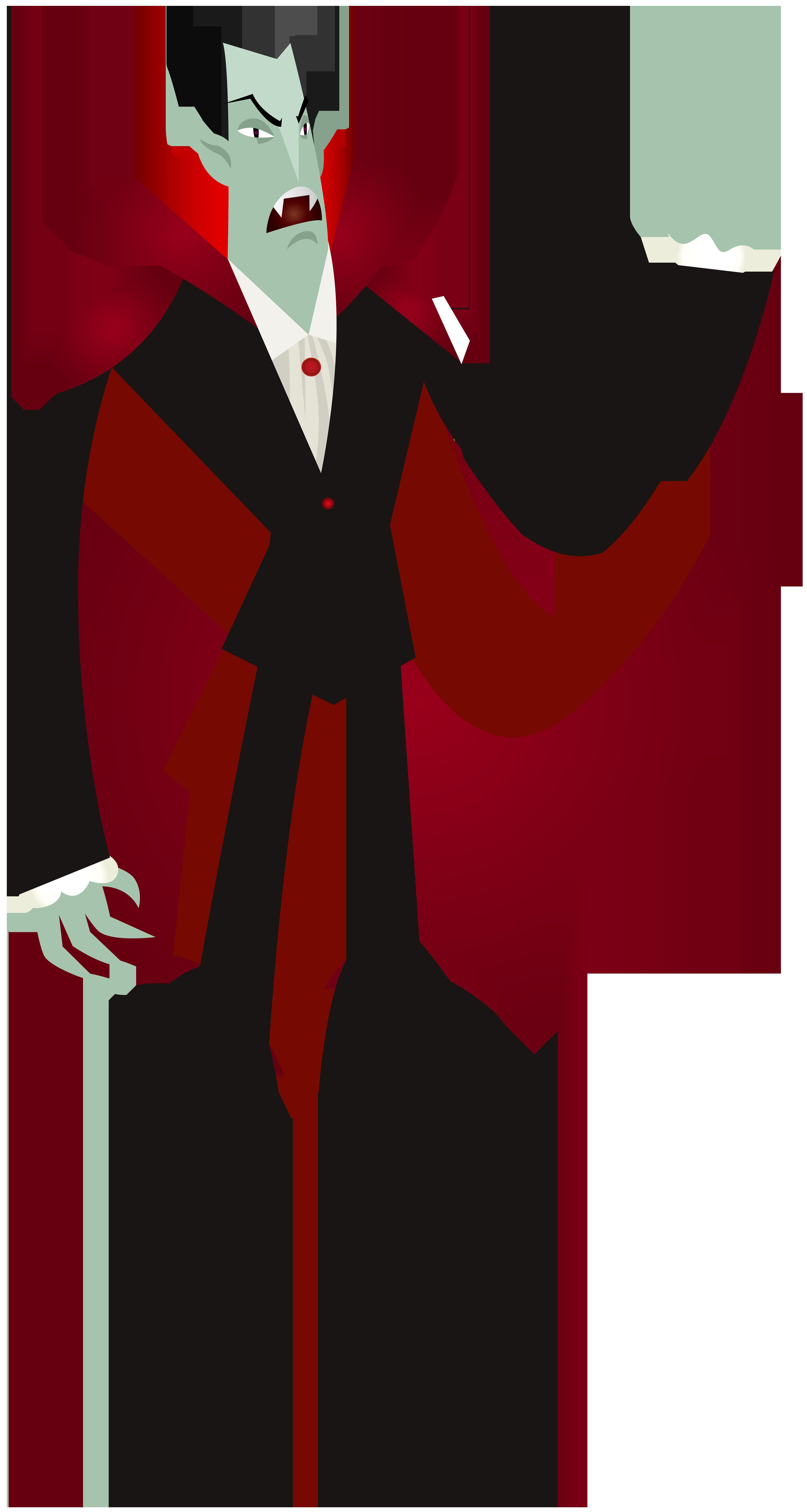 Vampire PNG Clip Art Image.