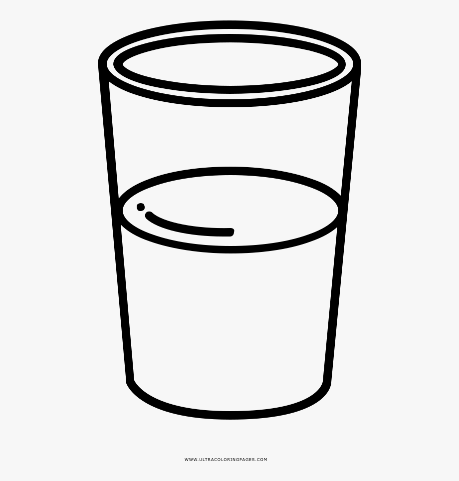 Glass Of Water Coloring Page.