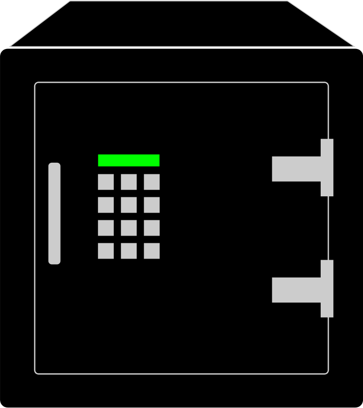 Free Clipart: Simple Electronic Safety Vault.