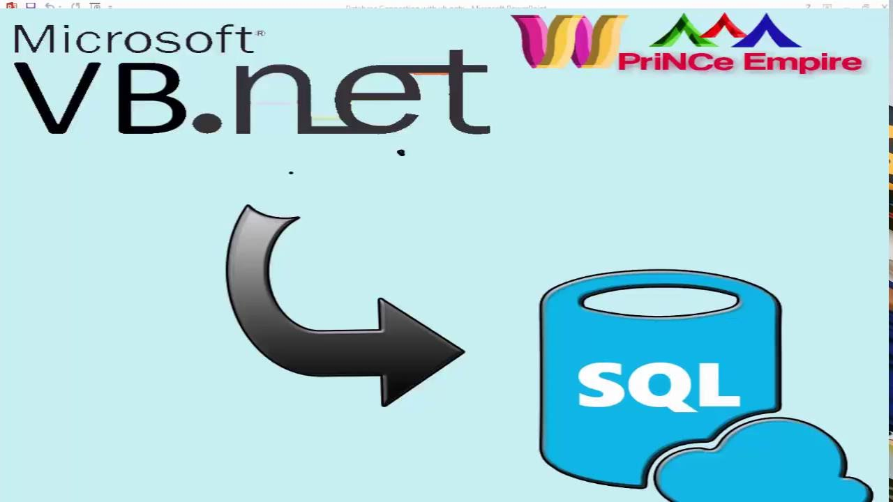 Microsoft sql database connection with vb.net form in urdu.