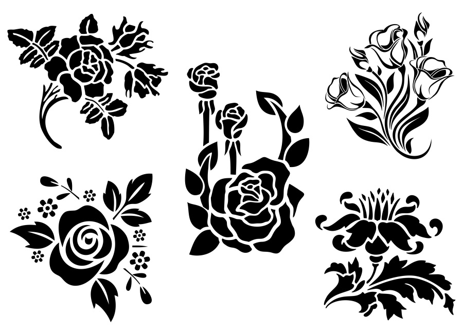 SVG and PNG cutting files, Floral Design, Clipart, Vector, SVG, PNG,  Wreaths, Frames, Elements (vr).