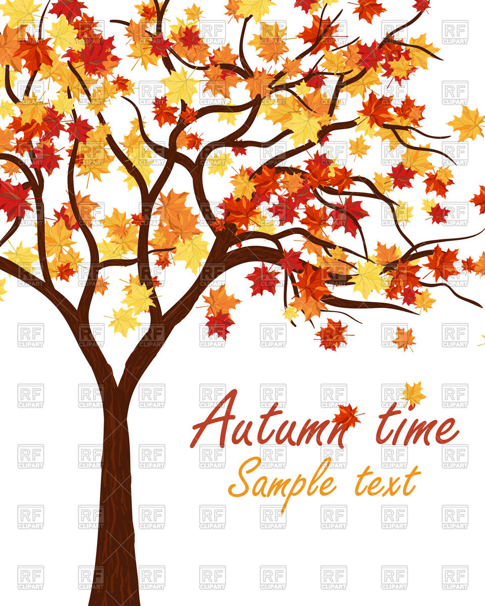 Autumn maple tree Vector Image #109312.