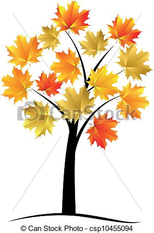 Clipart Vector Maple Tree.