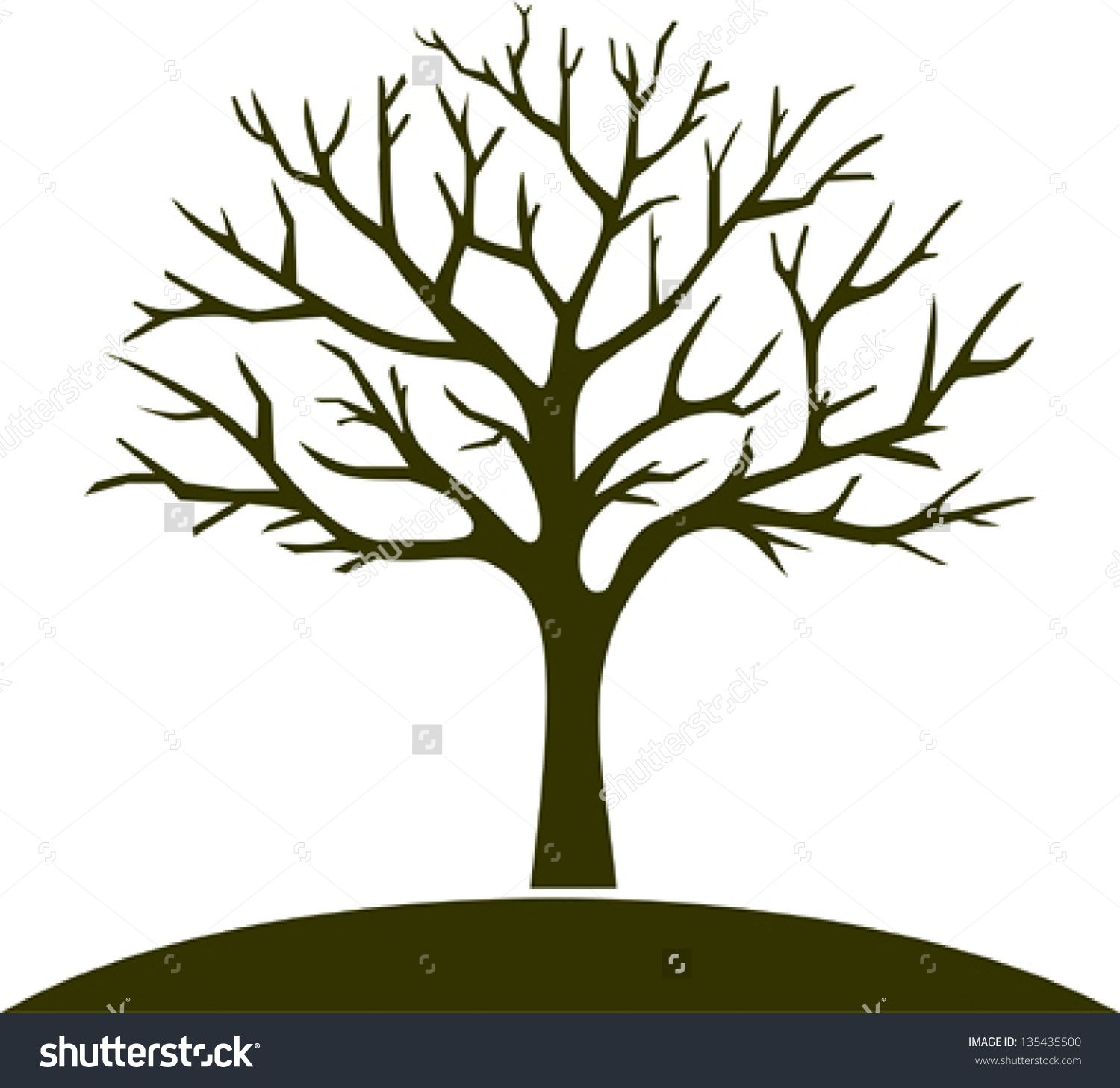 clipart vector winter tree - Clipground