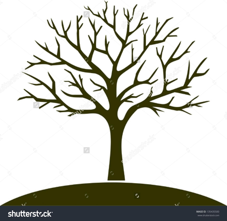 Clipart Vector Winter Tree.
