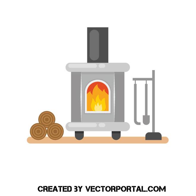 Image clipart vectoriel cheminée.