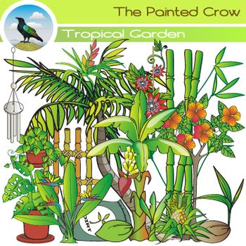 Tropical Garden Clip Art.
